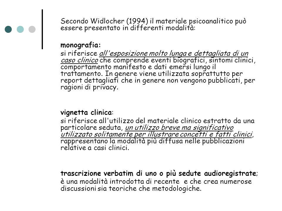 IL CASO DI ASSUNTINA TRASCRIZIONE DEL PRIMO COLLOQUIO DI CONSULTAZIONE.