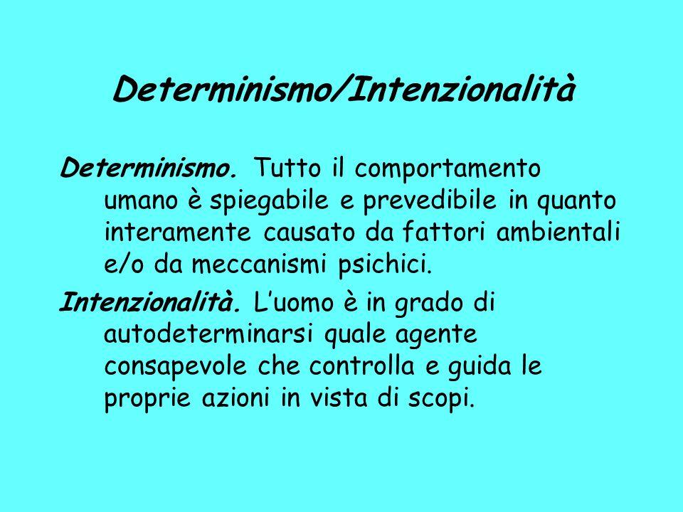Determinismo/Intenzionalità Determinismo.