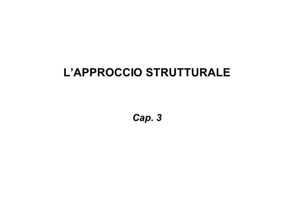 LAPPROCCIO STRUTTURALE Cap. 3