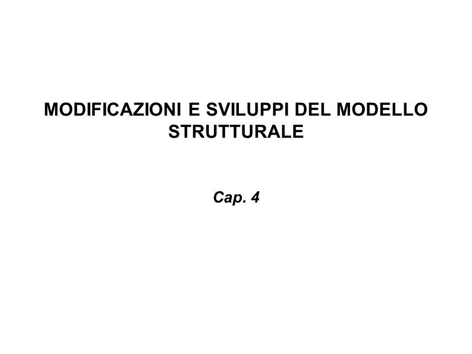 MODIFICAZIONI E SVILUPPI DEL MODELLO STRUTTURALE Cap. 4