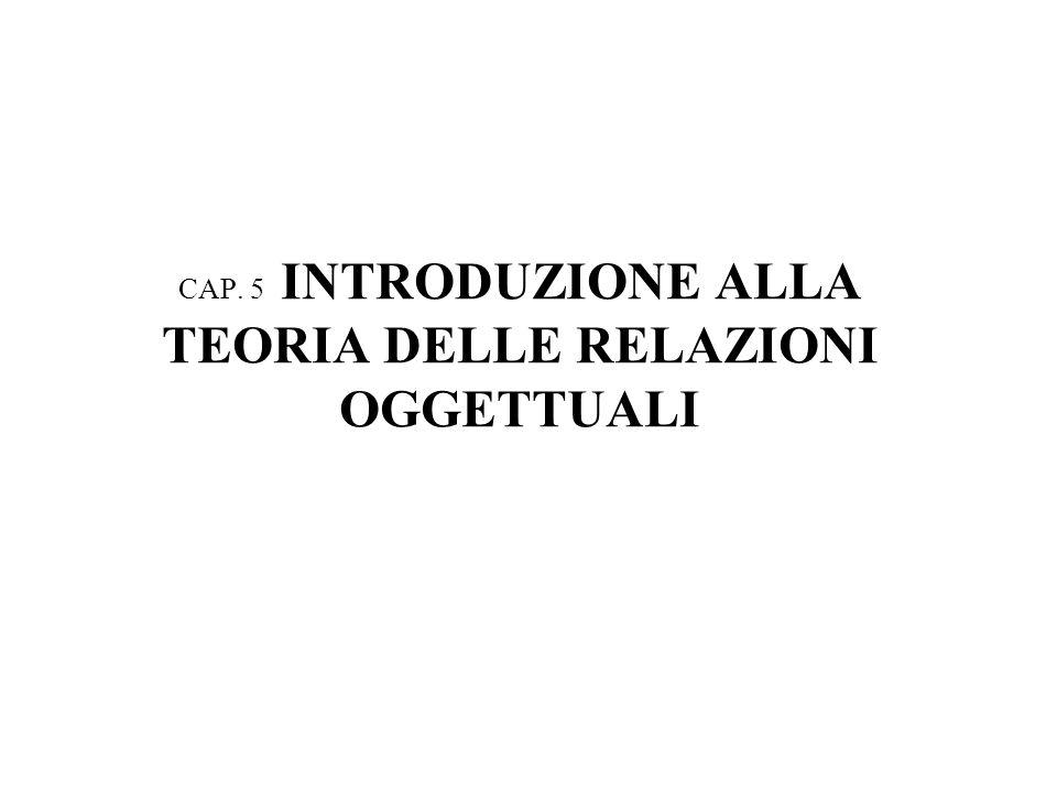 CAP. 5 INTRODUZIONE ALLA TEORIA DELLE RELAZIONI OGGETTUALI