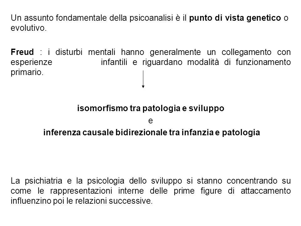 Un assunto fondamentale della psicoanalisi è il punto di vista genetico o evolutivo. Freud : i disturbi mentali hanno generalmente un collegamento con