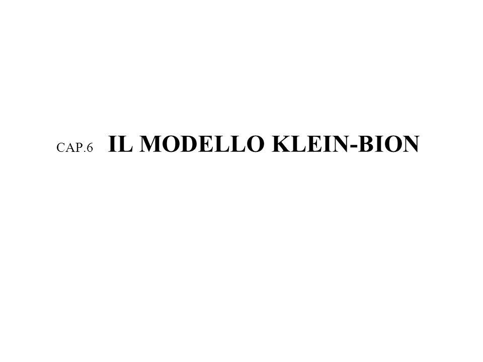 CAP.6 IL MODELLO KLEIN-BION