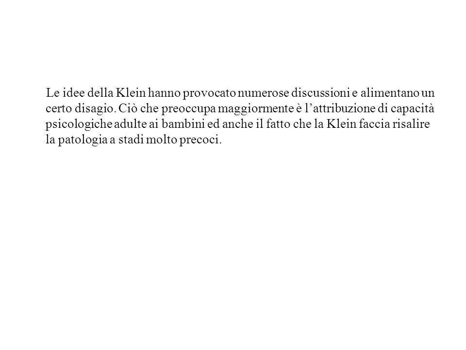 Le idee della Klein hanno provocato numerose discussioni e alimentano un certo disagio. Ciò che preoccupa maggiormente è lattribuzione di capacità psi