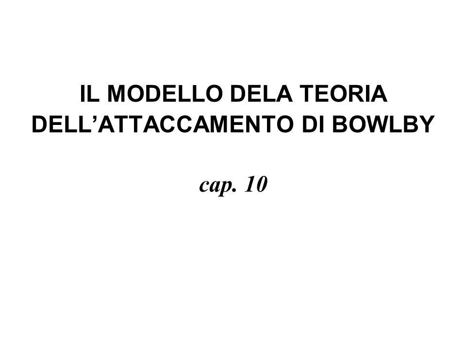 IL MODELLO DELA TEORIA DELLATTACCAMENTO DI BOWLBY cap. 10