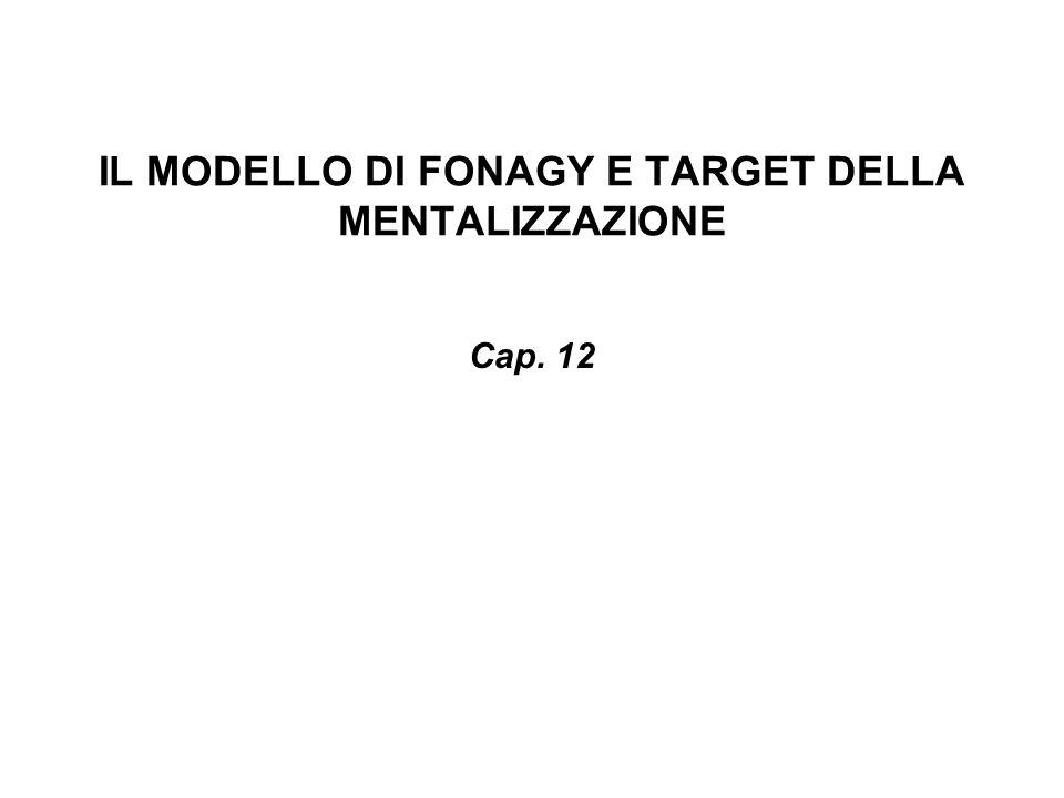 IL MODELLO DI FONAGY E TARGET DELLA MENTALIZZAZIONE Cap. 12