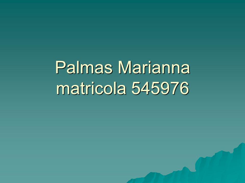 Palmas Marianna matricola 545976