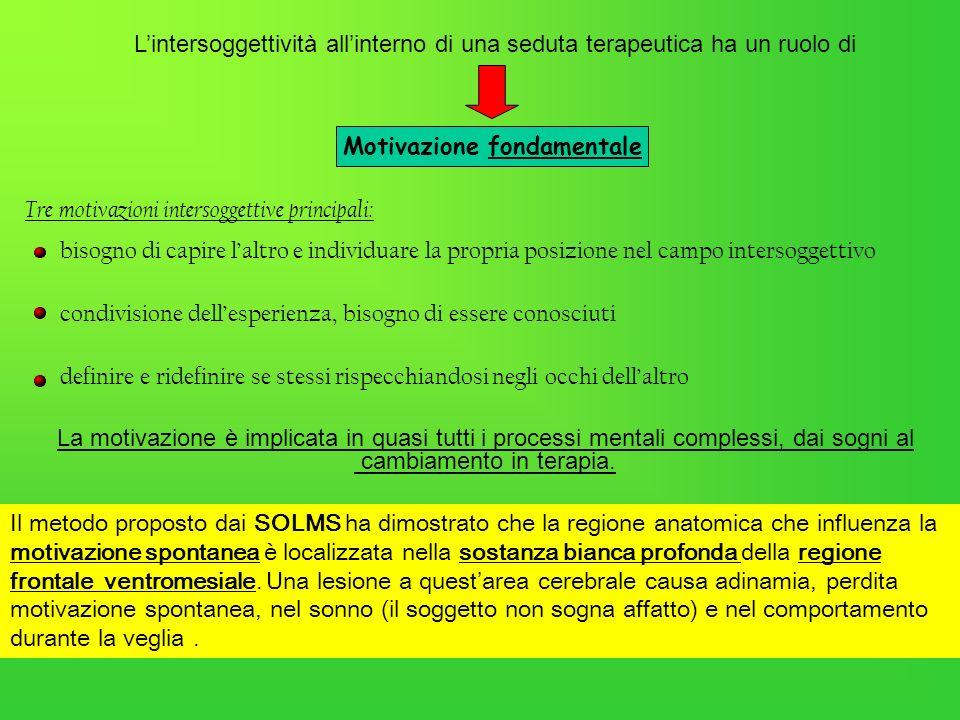 Lintersoggettività allinterno di una seduta terapeutica ha un ruolo di Tre motivazioni intersoggettive principali: bisogno di capire laltro e individu