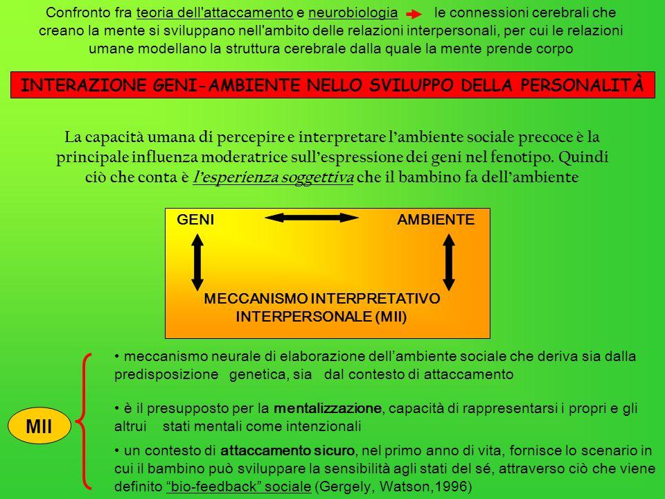 La capacità umana di percepire e interpretare lambiente sociale precoce è la principale influenza moderatrice sullespressione dei geni nel fenotipo. Q