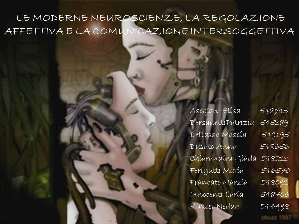 LE MODERNE NEUROSCIENZE, LA REGOLAZIONE AFFETTIVA E LA COMUNICAZIONE INTERSOGGETTIVA Ascolani Elisa 548715 BersanettiPatrizia 545389 Bettassa Mascia 5