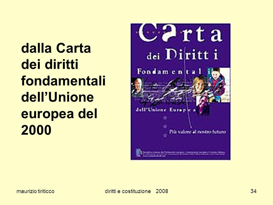 maurizio tiriticcodiritti e costituzione 200834 dalla Carta dei diritti fondamentali dellUnione europea del 2000