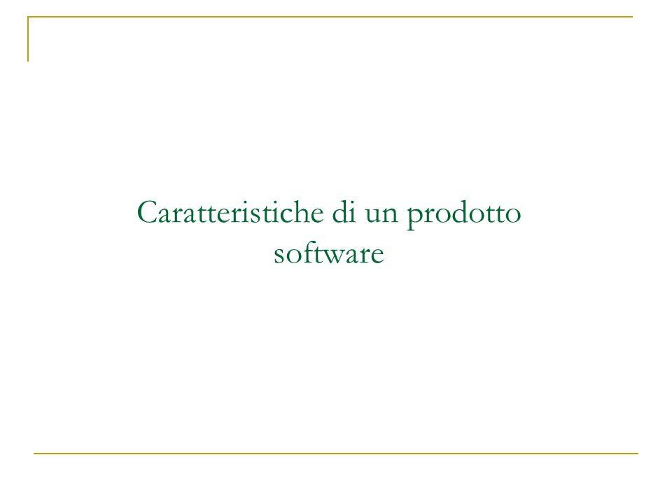 Caratteristiche di un prodotto software