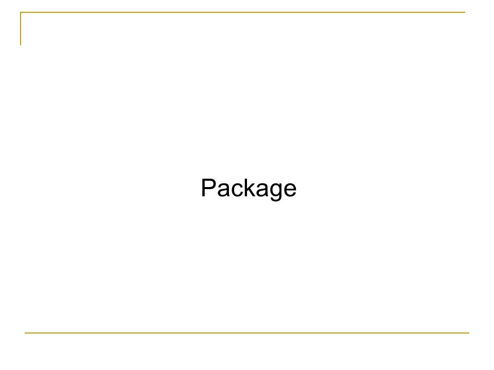 I package Un programma JAVA è costituito da una raccolta di classi.