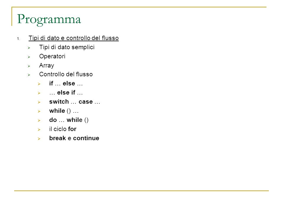 Programma 1.