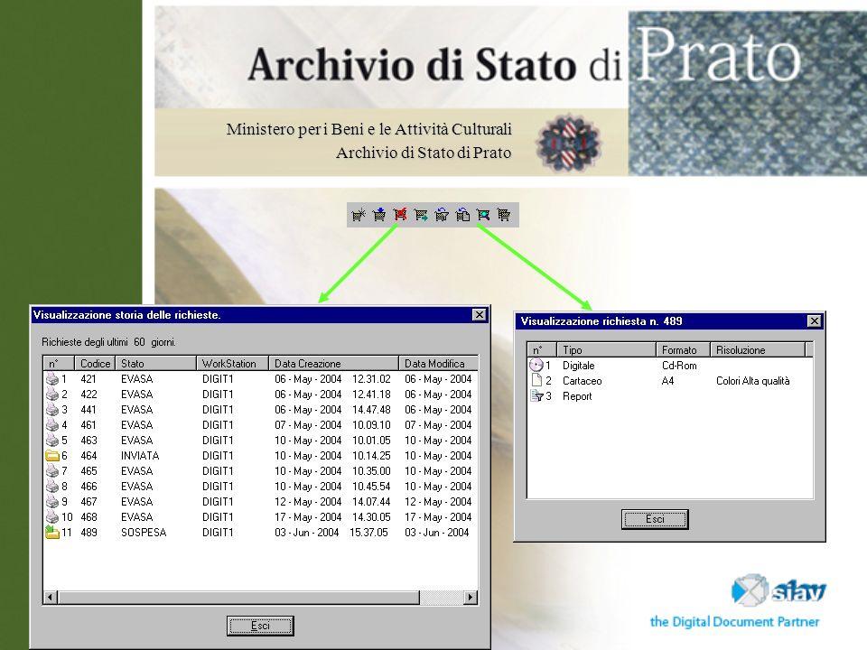 Ministero per i Beni e le Attività Culturali Archivio di Stato di Prato