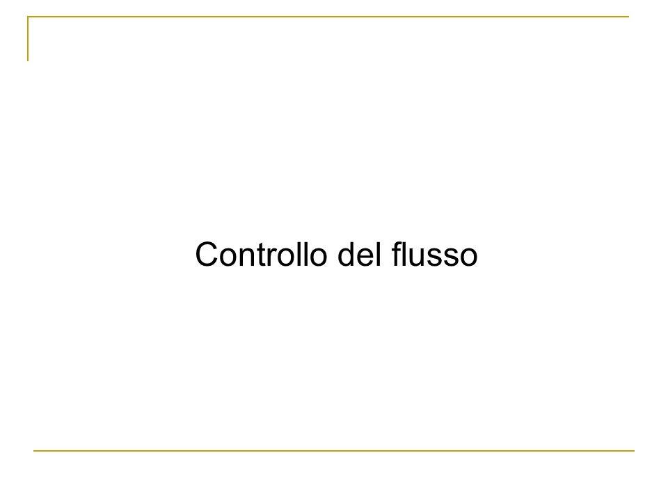 Controllo del flusso