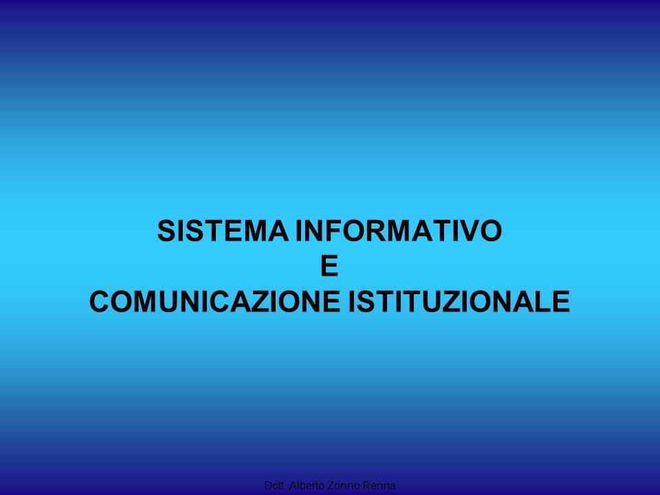 SISTEMA INFORMATIVO E COMUNICAZIONE ISTITUZIONALE Dott. Alberto Zonno Renna