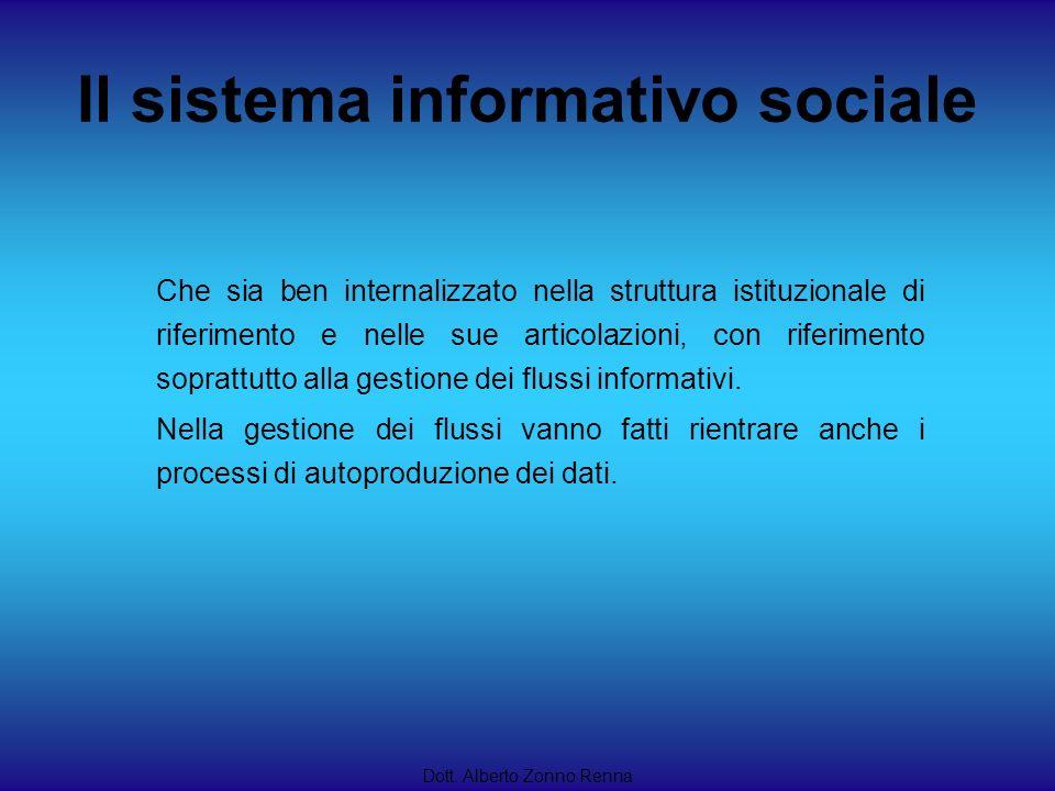 Dott. Alberto Zonno Renna Che sia ben internalizzato nella struttura istituzionale di riferimento e nelle sue articolazioni, con riferimento soprattut