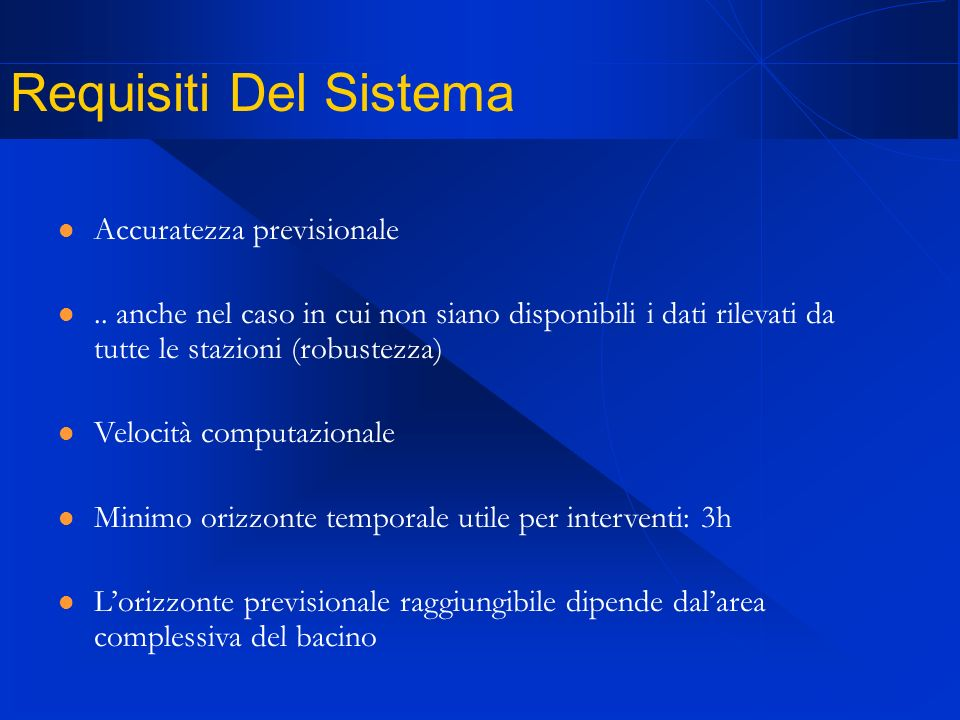 Requisiti Del Sistema Accuratezza previsionale..