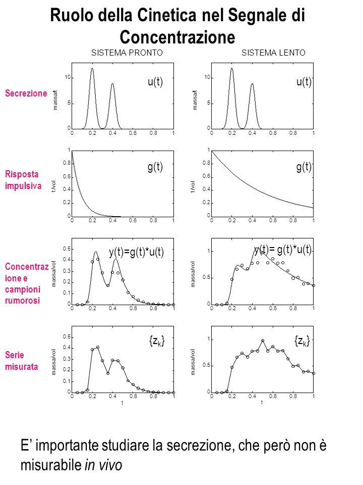 8 Formulazione del Problema di Deconvoluzione Problema di deconvoluzione: Ricostruire lingresso u(t) nota la risposta impulsiva g(t) e n campioni rumorosi delluscita su s ={t 1, t 2,..., t n } u(t) SISTEMA g(t) y(t) + + zkzk vkvk z(t k ) .
