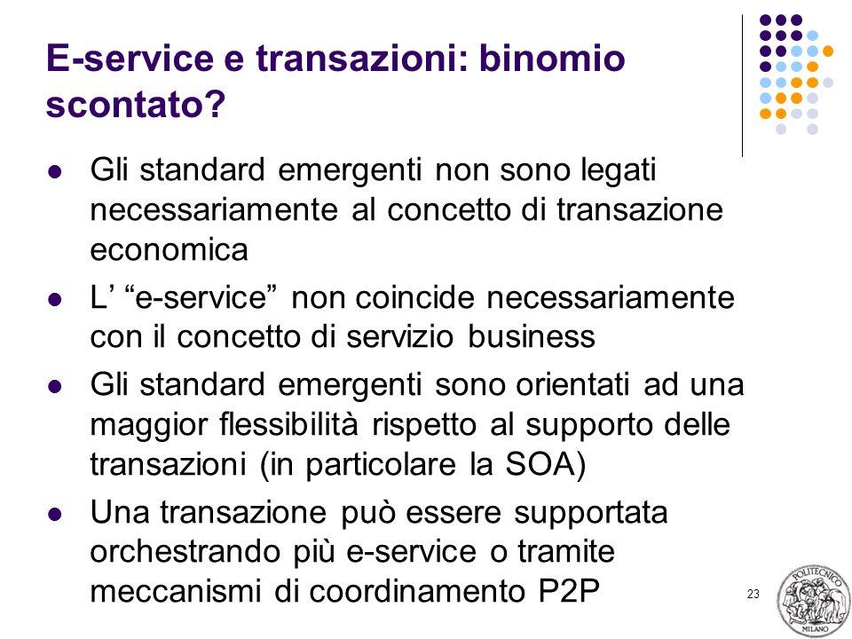 23 E-service e transazioni: binomio scontato.
