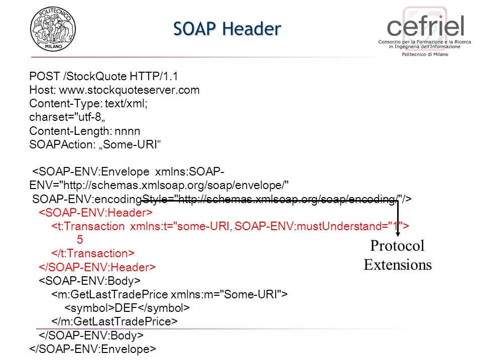 A Simple SOAP Response HTTP/1.1 200 OK Content-Type: text/xml; charset=
