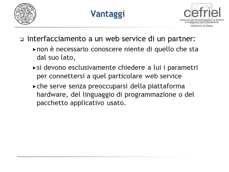 Web services Servizi che possono essere chiamati da altri programmi in rete Decentralizzazione dellelaborazione (Sun, 1990) Def: Web Service: raccolta