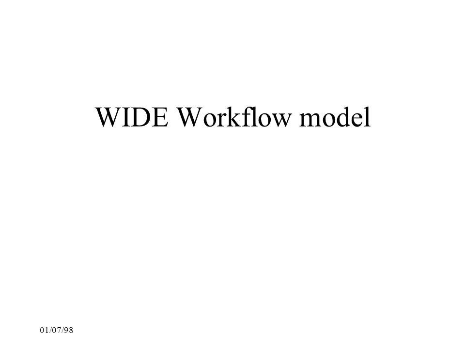 01/07/98 WIDE Workflow model