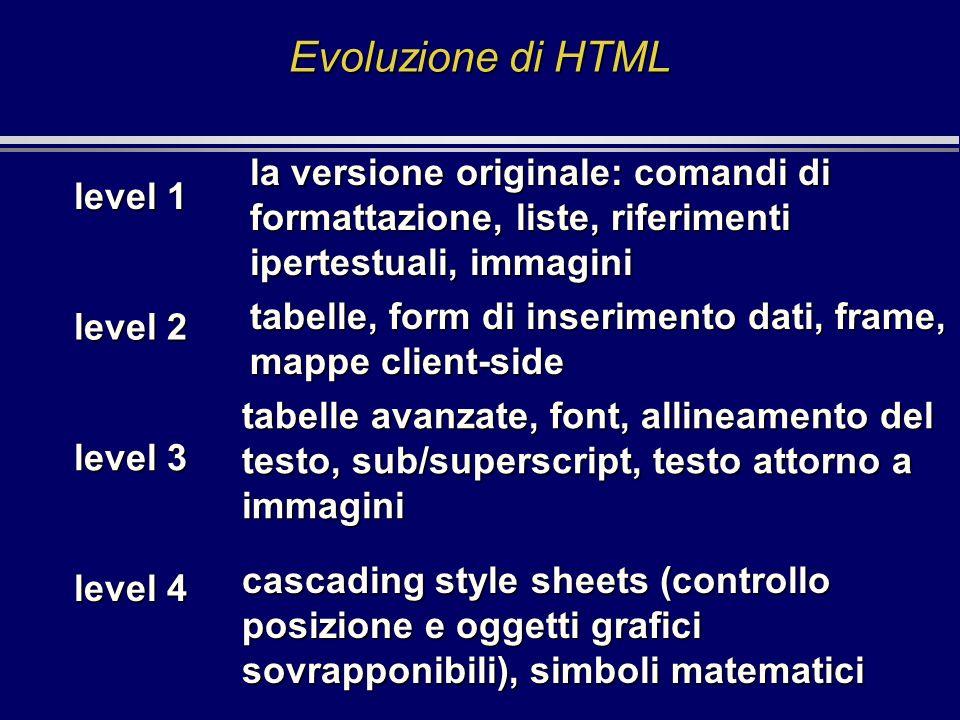 tabelle avanzate, font, allineamento del testo, sub/superscript, testo attorno a immagini la versione originale: comandi di formattazione, liste, rife