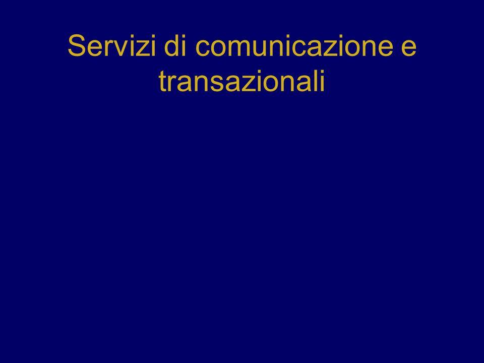 Servizi di comunicazione e transazionali