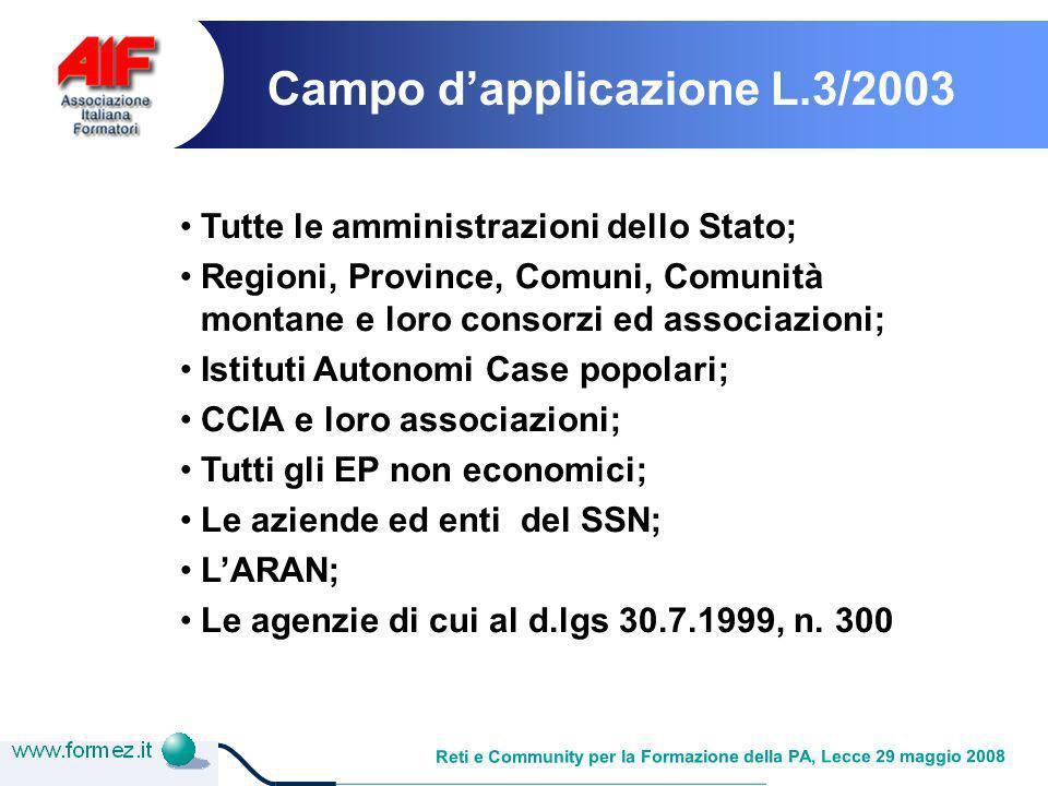 Reti e Community per la Formazione della PA, Lecce 29 maggio 2008 Come creare rete tra i servizi: la PA faro specializzata