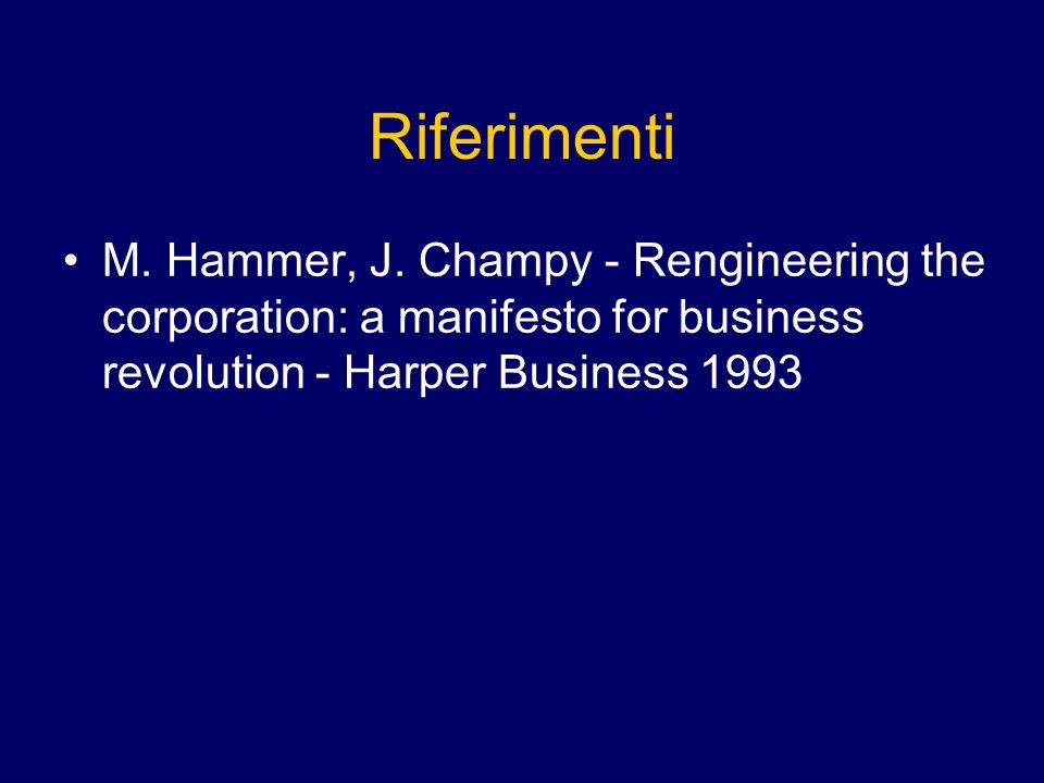 Riferimenti M.Hammer, J.