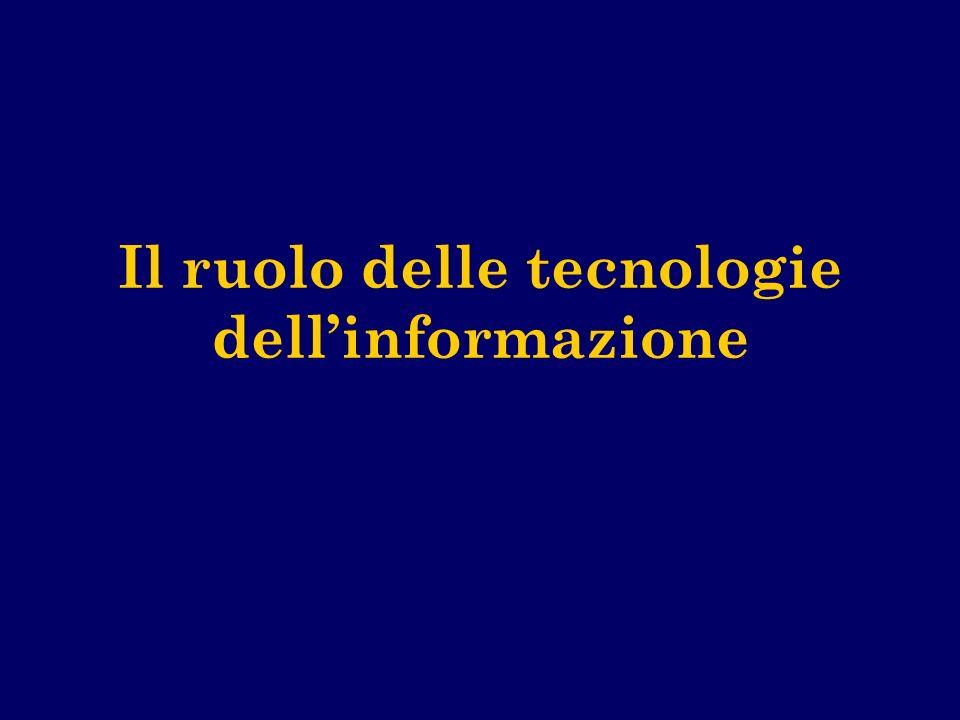 Il ruolo delle tecnologie dellinformazione