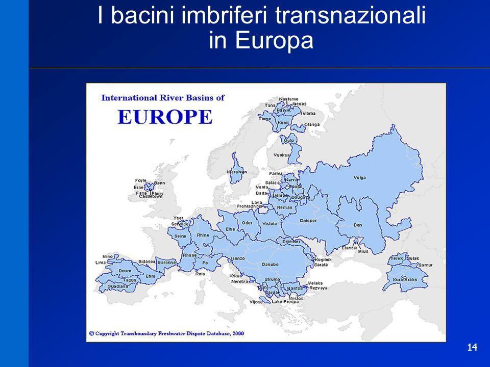 14 I bacini imbriferi transnazionali in Europa
