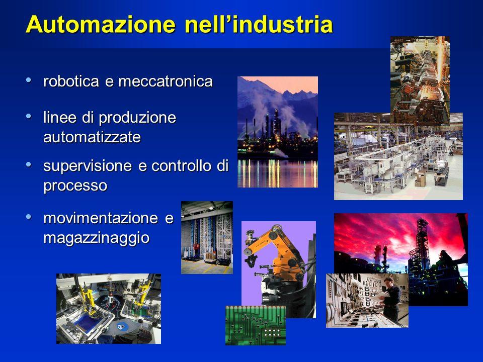 Automazione nellindustria robotica e meccatronica robotica e meccatronica linee di produzione automatizzate linee di produzione automatizzate supervis