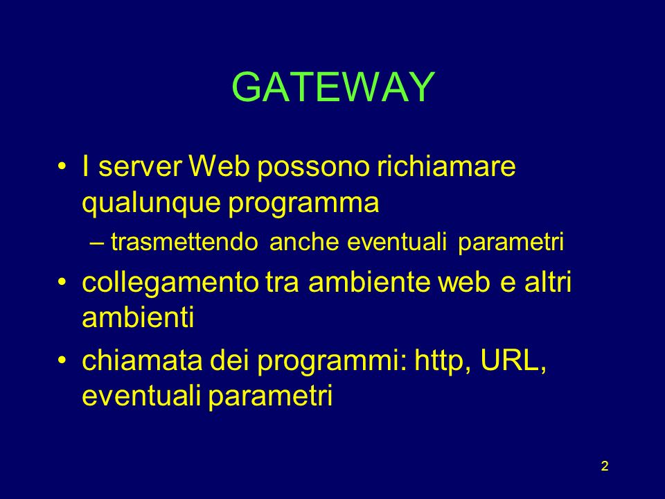 63 Concetti Generali ASP è un ambiente di sviluppo che permette di creare script lato server allinterno di documenti HTML, consentendo di realizzare applicazioni Web dinamiche e interattive Web Server Active Server Pages HTTP Request HTTP Response Browser Requisiti minimi Microsoft Internet Information Server versione 3.0 su Windows NT Server Microsoft Peer Web Services versione 3.0 su Windows NT Workstation Microsoft Personal Web Server su Windows 9x