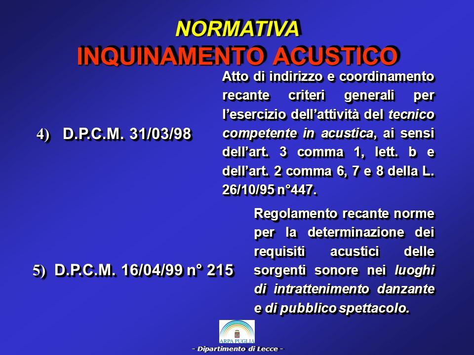 - Dipartimento di Lecce - 6) L.R.