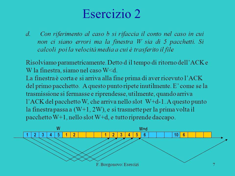 F.Borgonovo: Esercizi7 Esercizio 2 d.