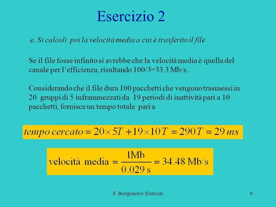 F.Borgonovo: Esercizi9 Esercizio 2 e.