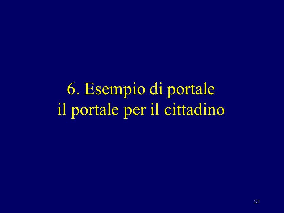 25 6. Esempio di portale il portale per il cittadino