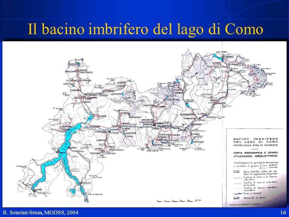 R. Soncini-Sessa, MODSS, 2004 16 Il bacino imbrifero del lago di Como