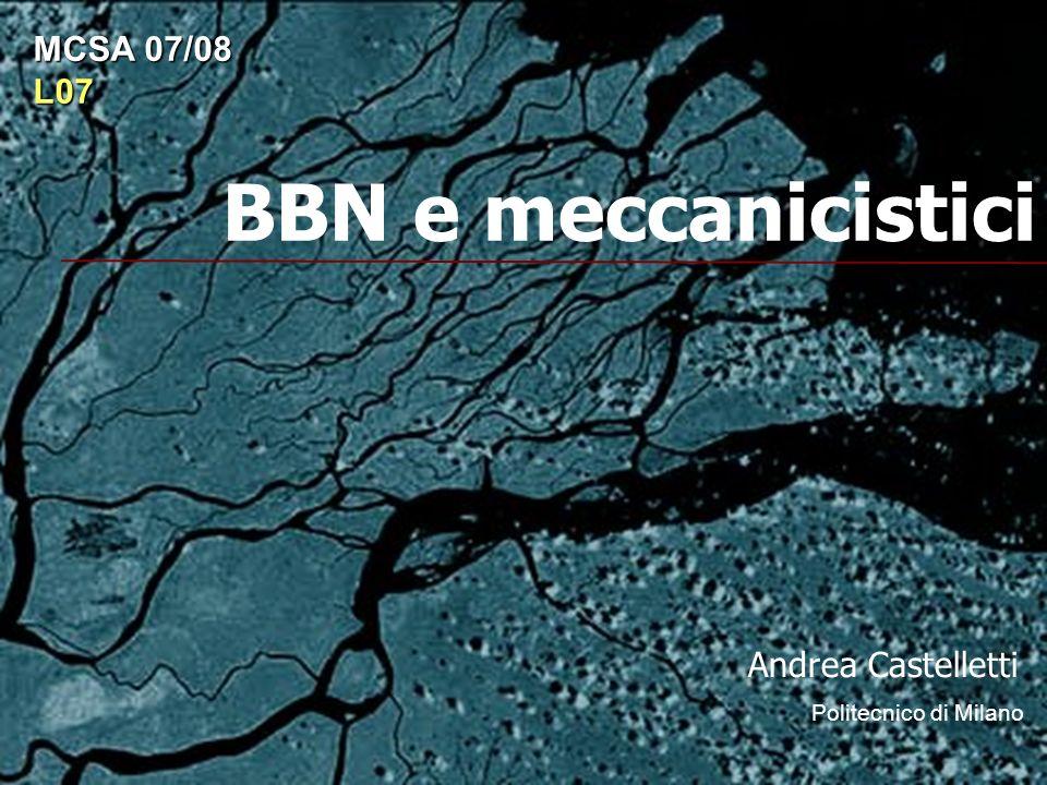 BBN e meccanicistici Andrea Castelletti Politecnico di Milano MCSA 07/08 L07