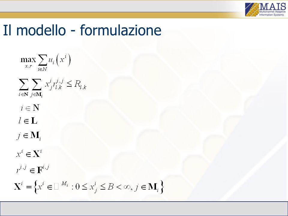 Il modello - formulazione