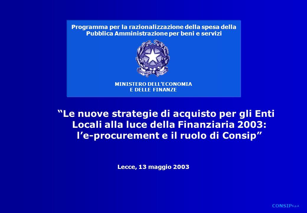 Lecce_13-05-03.ppt CONSIP S.p.A.