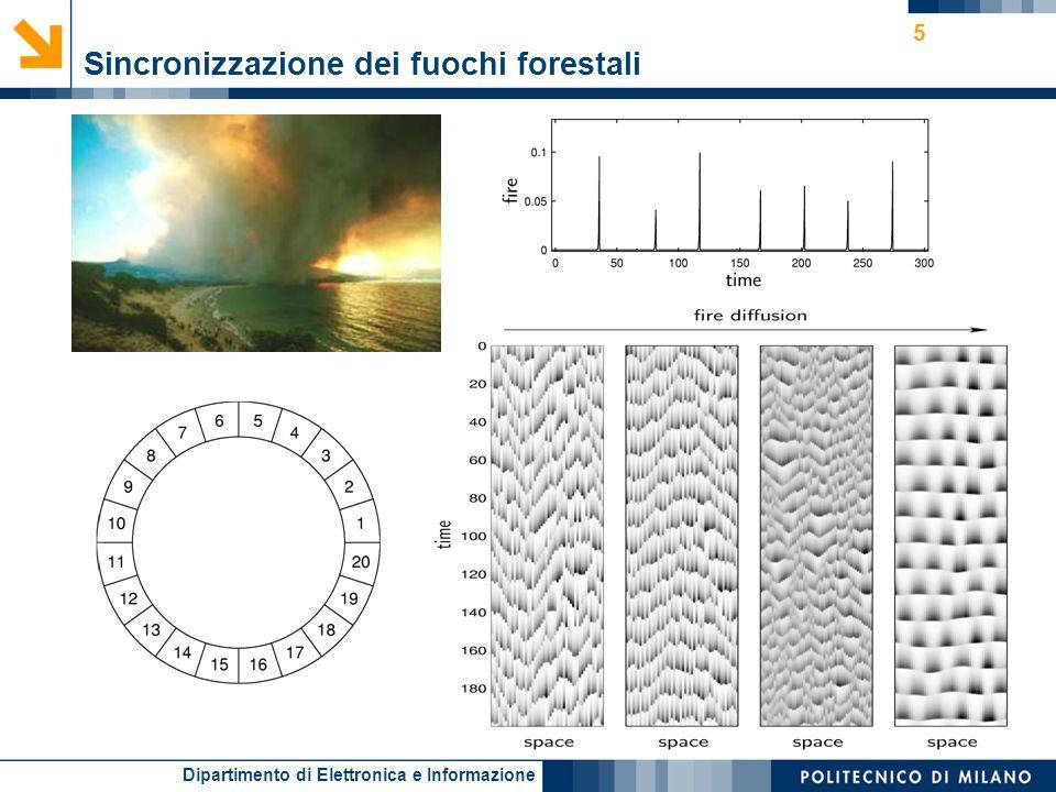 Dipartimento di Elettronica e Informazione 5 Sincronizzazione dei fuochi forestali