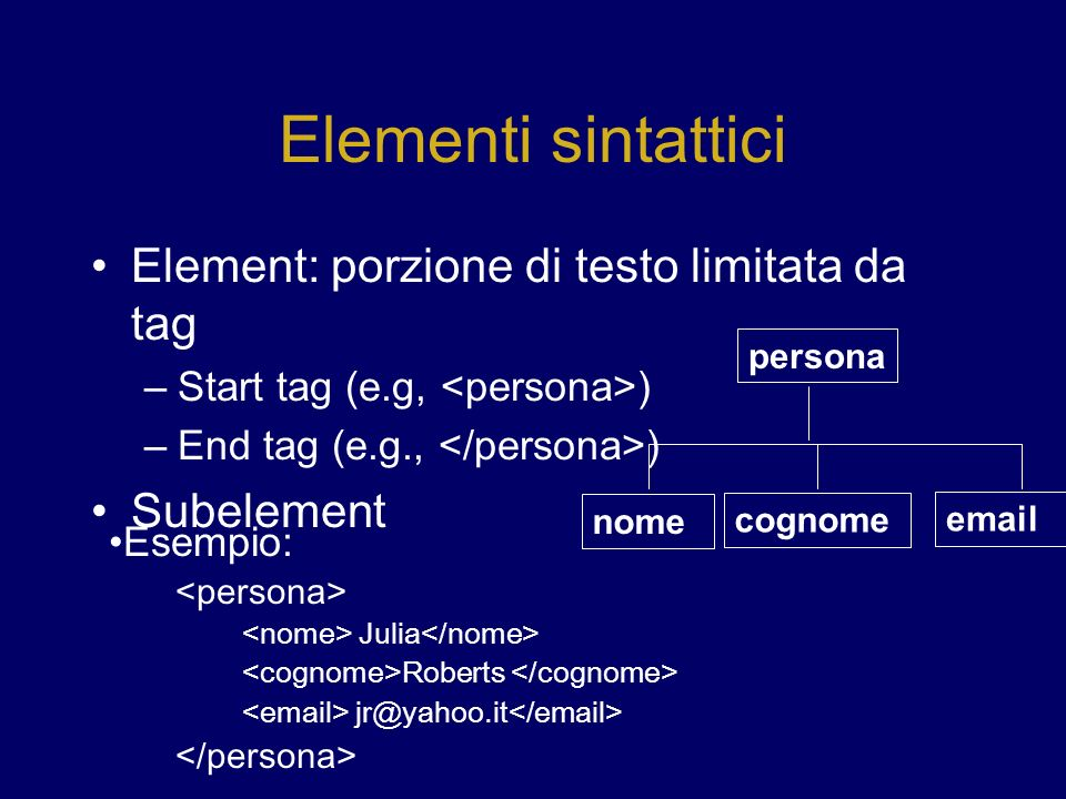 Applicazioni XML/EDI (electronic business transactions between companies) Workflow Management Wrapping Legacy Systems XHTML: ridefinizione di HTML in XML