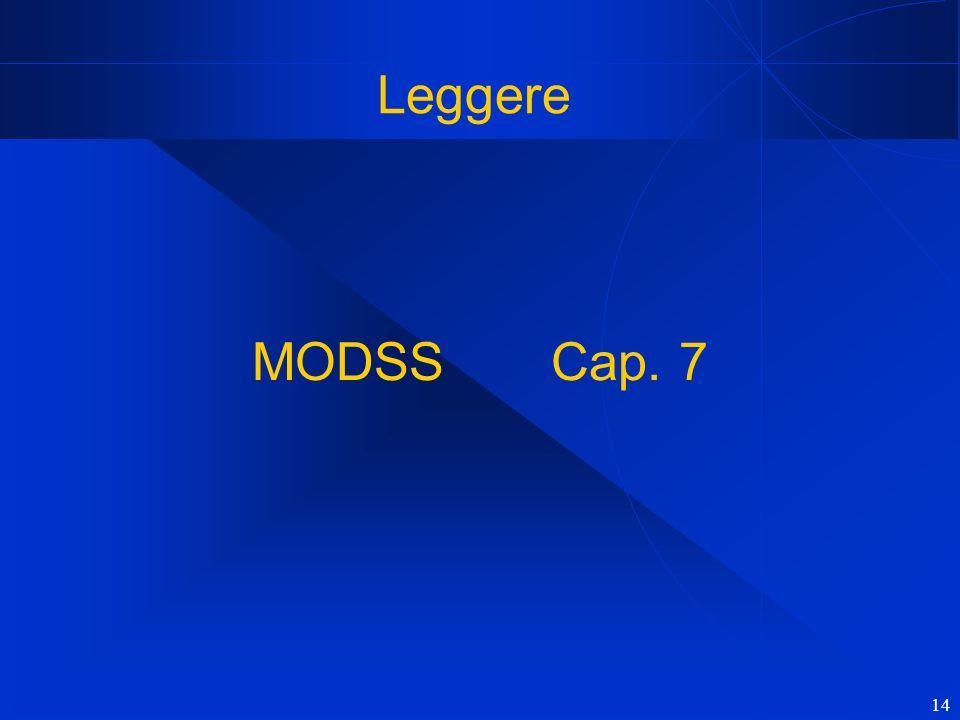 14 Leggere MODSS Cap. 7