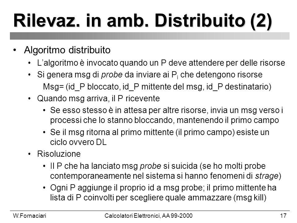 W.FornaciariCalcolatori Elettronici, AA 99-200017 Rilevaz.