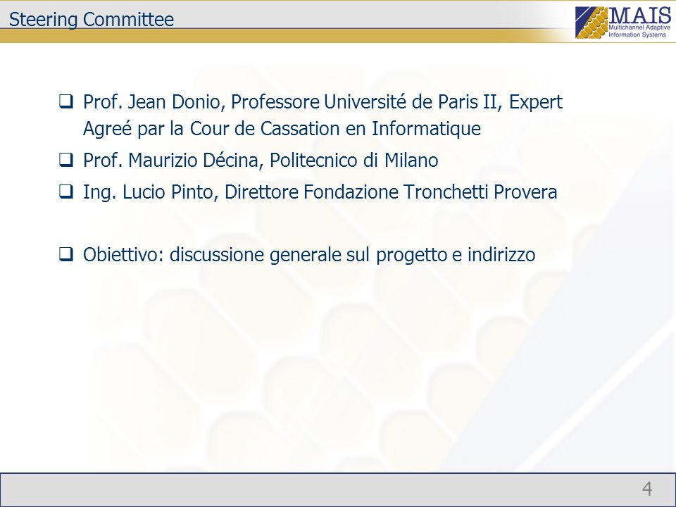4 Steering Committee Prof.