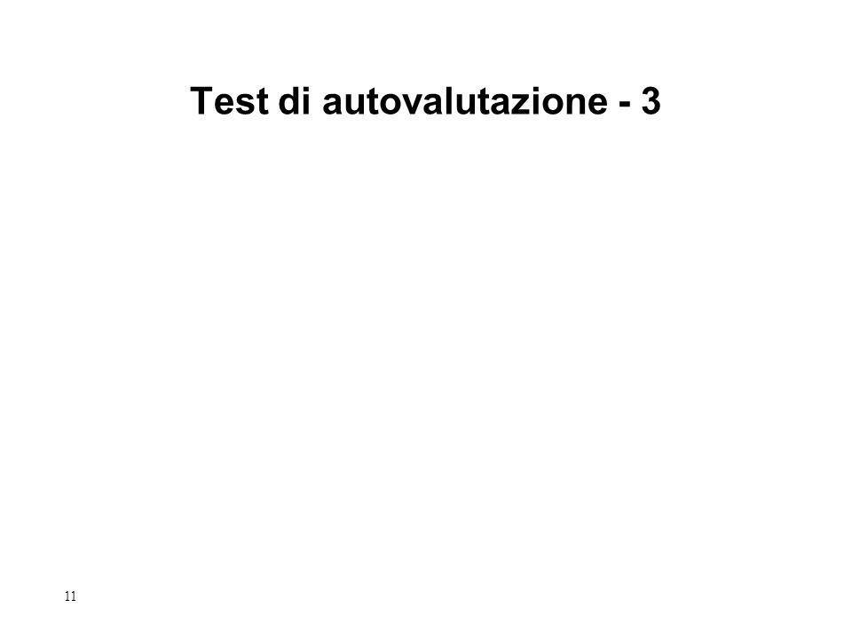 11 Test di autovalutazione - 3